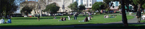Washington Park. There is a cool chruch there... seemd like a good place to hang out and relax